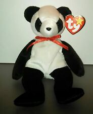 TY Beanie Babies NEW FORTUNE Panda Bear Introduced 1998/Retired 1999 PE Pellets