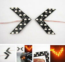 2x Amber Arrow Indicator 14SMD LED Car Side Mirror Turn Signal Lights For Honda