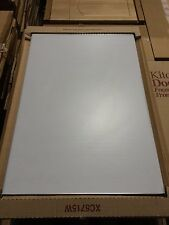 LIGHT GREY, CHROME TRIMMED Kitchen Unit Cabinet Cupboard Base Door 600mm , (NAB)