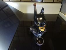 Batman Ceramic Tobacco Pipe. 5 Free screens   Glass Alternative  ( PM 3022)