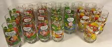 19 SNOOPY Peanuts Glass TUMBLERS Camp Collection  c.1965, 1968,1971 McDonald's
