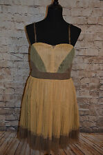 ModCloth Ryu Mustard the Courge Dress NWT Sz L olive mustard brown boho $103