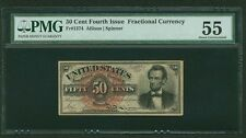 "1869-75 50 CENT FRACTIONAL CURRENCY ""LINCOLN"" FR1374 CERTIFIED PMG ABOUT UNC.-55"