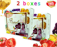 2 Boxes Mask Natural Soap Reduce Dark Spot with Gluta+Fruit+Tomato+Snail 100 G.
