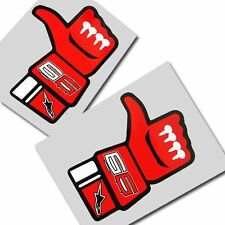 Jorge Lorenzo 99 `LIKE` unique stickers  motorcycle decals custom graphics x 2