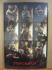 Vintage Martial Arts  NUNCHAKU! Nunchuck  Karate poster 1987 4875