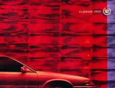 2000 Cadillac Eldorado 30-page Original Car Sales Brochure Catalog