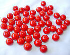 NEW 50 RED DEVIL 14mm GLASS MARBLES OPAQUE TRADITIONAL COLLECTORS ITEMS