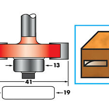 """1/4"""" Shank Biscuit Cutter Router Bit  No.10 & 20 TCT Biscuit Joints Slots Groove"""
