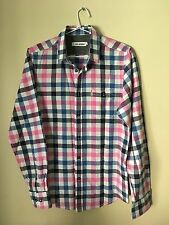Ben Sherman, long sleeved shirt, check pink, blue &white, size S