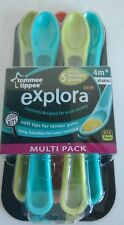 Tommee Tippee Explora 5 Pack of Boys Soft Tip Weaning Spoons 4 Months+ BN