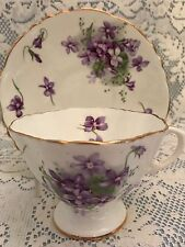 Hammersley & Co. Victorian Violets Bone China Cup and Saucer