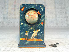 Tin Wind Up space toy Sputnik clockwork 1950's Vintage USSR EARLY & RARE working
