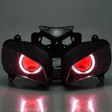 Assembly HID Projector Headlight Angel Red Devil Eye For Honda CBR1000 2004-2007