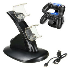 Dual Cargador USB LED Station Base Carga Rápida Soporte Para PS4 SLIM Mando