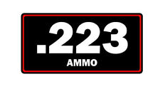 .223 ammo label can vinyl sticker decal bumper rifle gun bullet