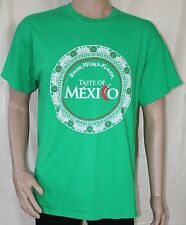 Taste of Mexico - Savor World Flavor Large Green T-Shirt