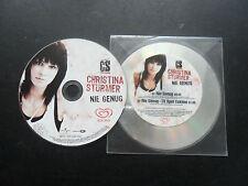 Christina Stürmer/Nie genug + TV Spot Eskimo Austria 1-Track/MCD