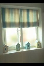 ROMAN BLIND in AWNING STRIPE SEASPRAY Laura Ashley Fabric MADE TO MEASURE