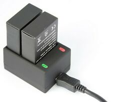 AHDBT-301 USB Dual Charger Charging for Gopro HD Hero 3+3  Battery Accessories
