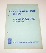 Ersatzteilkatalog SACHS 100/3 Lüfter für Motorhacke!