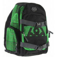 "NEW 686 Snowboard Junction Black & Green Skateboard & Laptop Case 15"" Backpack"