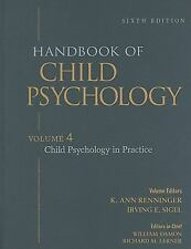 Handbook of Child Psychology, Vol. 4: Child Psychology in Practice, 6t-ExLibrary