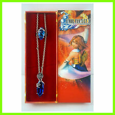 NEW Final Fantasy X/X-2 Pendant Blue Magic Crystal Necklace with Ring In Box SET