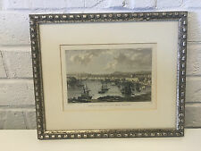 Antique WH Bartlett Davies Engraving Print Oreston & the Cat-Water Near Plymouth