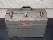 "Vintage Sears Craftsman Metal Cantilever Top 4 Tray Toolbox 18"" X 13"" X 10"""