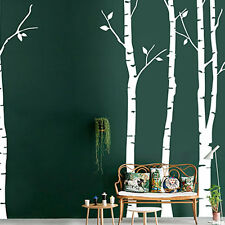 Large Birch Tree Forest Vinyl Wall Decal Sticker Art Nursery Living Room Decor