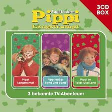 Pippi Langstrumpf Hörspielbox (2015)  3 CDs mit 3 bekannten TV-Abenteuern