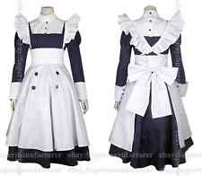 Black Butler Mey Rin Cosplay Costume Apron Dress,Customized Accepted