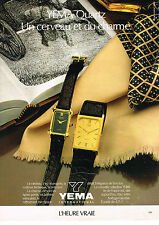 PUBLICITE   1980   YEMA QUARTZ  collection montre