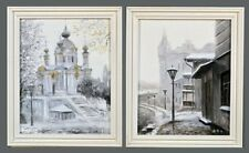 PAIR OF CONTEMPORARY OIL PAINTINGS OF KIEV