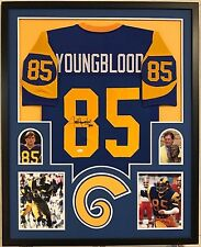 FRAMED JACK YOUNGBLOOD AUTOGRAPHED SIGNED INSCRIBED L.A. RAMS JERSEY JSA COA