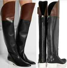 "Alexander Wang  RUNWAY ""Lovanni""  TWO-TONE  OVER THE KNEE BOOTS EU 40 US 10"