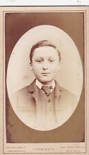 ANTIQUE CDV PHOTO.  SMART YOUNG MAN.NAMED -ERNEST COCKLE . NEW CROSS STUDIO.