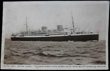 "OLD POSTCARD OF ROYAL MAIL MOTOR VESSEL ""ALCANTARA"" SOUTH AMERICAN SERVICE"