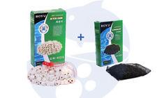 Carbon Activado de 300g + Canutillos Ceramicos 300g para filtro acuario Activo