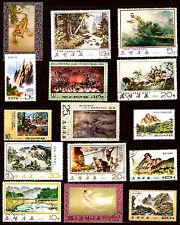 COREE  Tableaux sur paysages , sous-bois,montagnes,riviere,tigre 52m112b