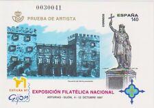 ESPAÑA 1997, PRUEBA DE ARTISTA. PRUEBA OFICIAL 64. Motivo: EXFILNA97