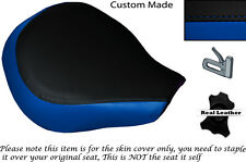 ROYAL BLUE & BLACK CUSTOM FITS SUZUKI VL 800 VOLUSIA FRONT LEATHER SEAT COVER