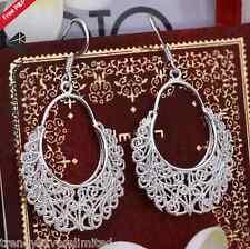 Women's Hippie Vintage 925 Sterling Silver Filled Drop Dangle Earrings #32
