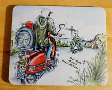 Scooter Mouse Mat, Isle of Wight Scooter Rally, Mod Skinhead Ska Reggae Mousemat