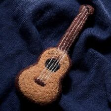 felt brooch brown guitar pin Needle