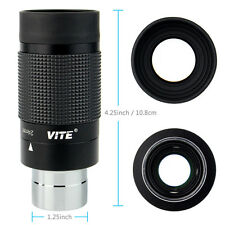 "VITE 1.25"" 8-24mm Zoom Wide Angle Eyepiece for Telescope Fully Multicoated Optic"