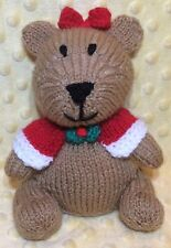 KNITTING PATTERN - Merry Beary Christmas Teddy Choc orange cover /15cms bear toy