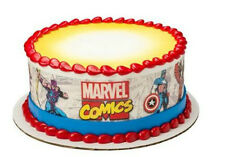 Marvel Comics Avengers edible image cake strips frosting icing sides #8372