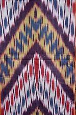 Ikat de tela de algodón METERWARE a mano multicolor Uzbekistán